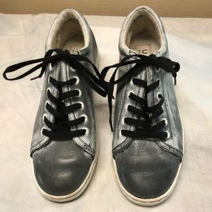 UGG women's gray leather sneakers